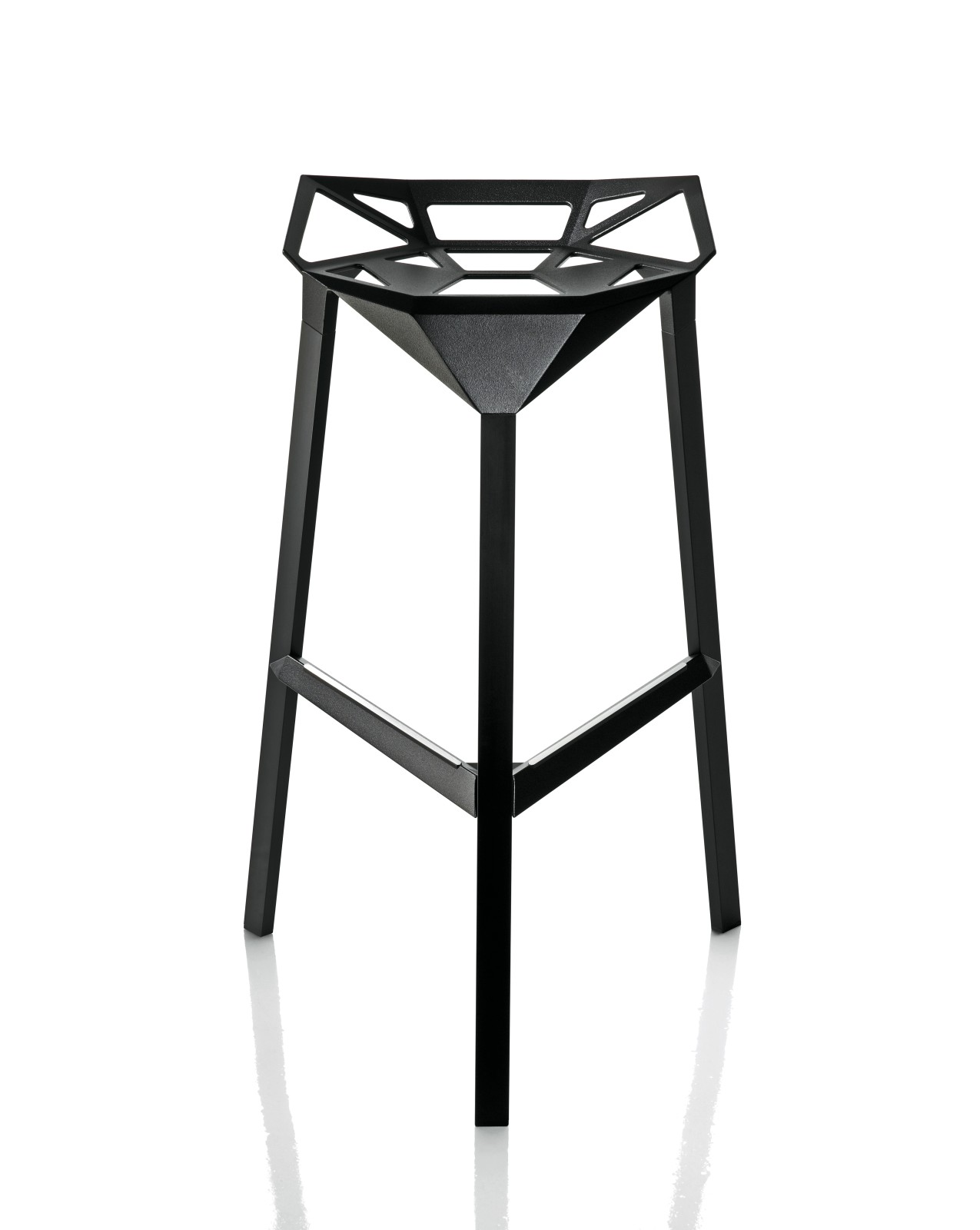 Stool One High Stool - Set of 2 Black, 74cm