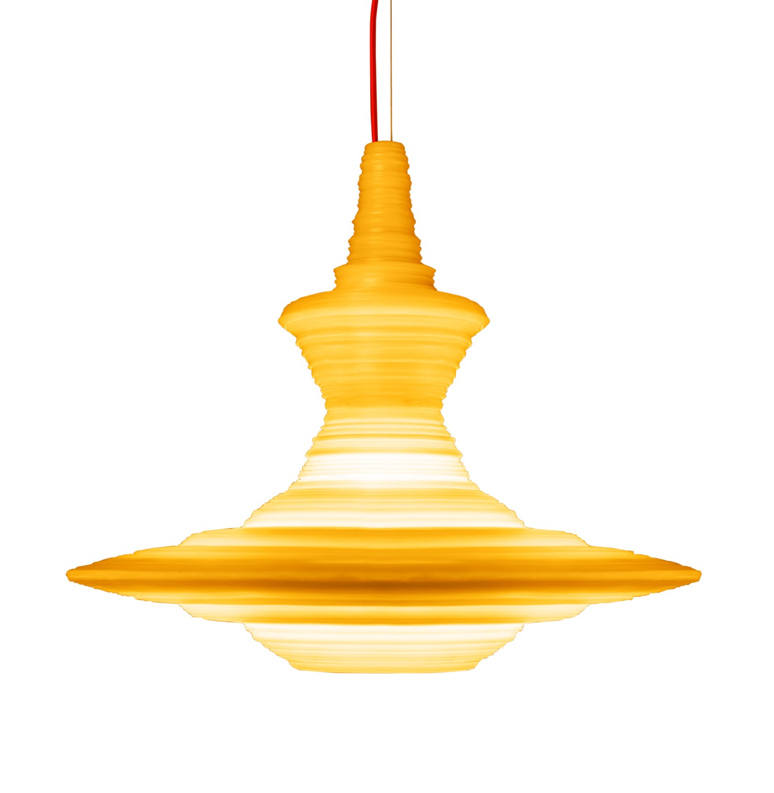 Stupa Pendant Light Yellow, Large