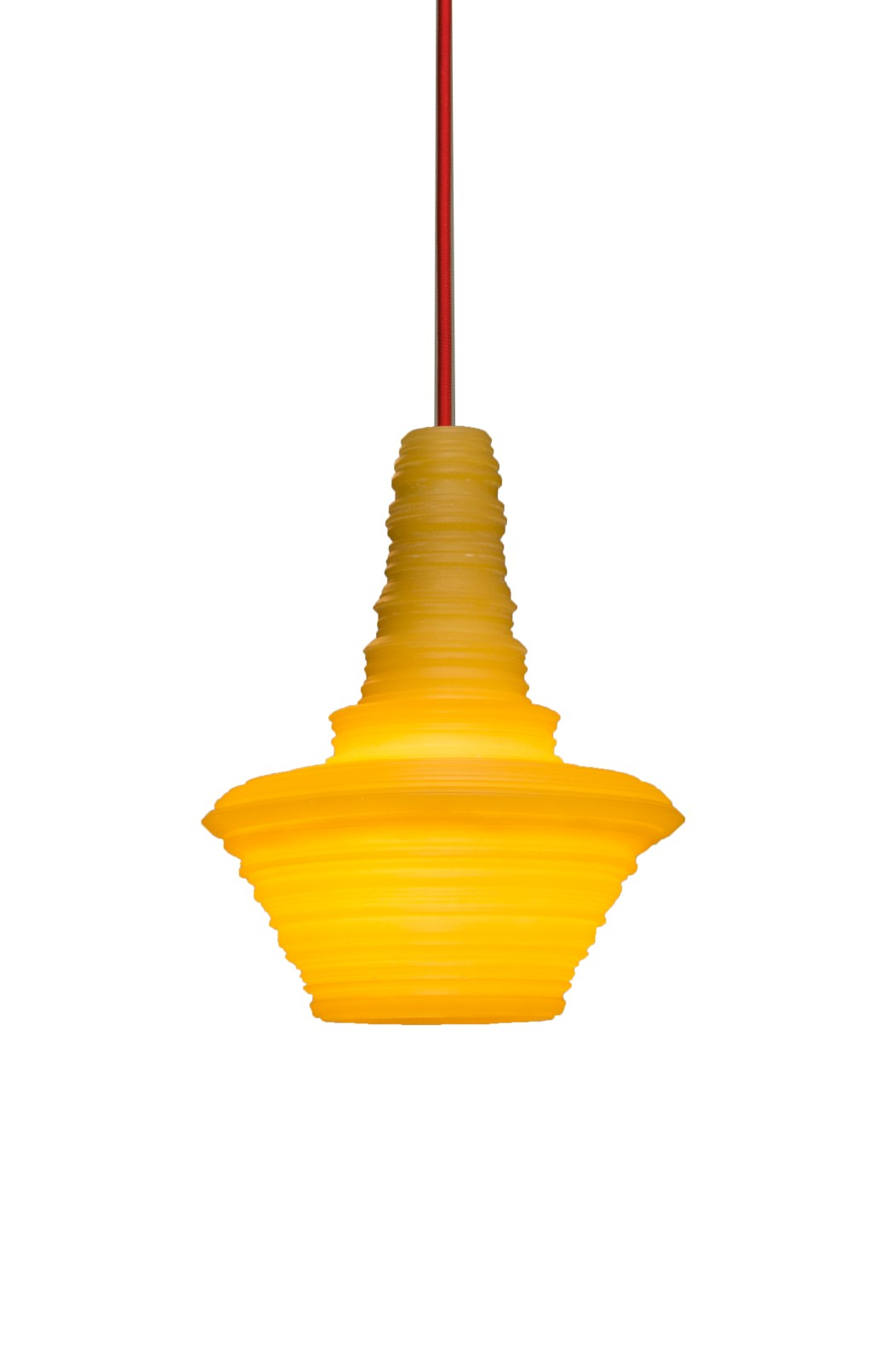 Stupa Pendant Light Yellow, Small