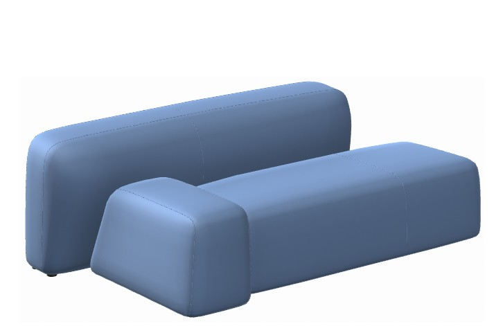 Suiseki Seating Composition SUI07SX/SUI07DX Left, La Cividina Xtreme