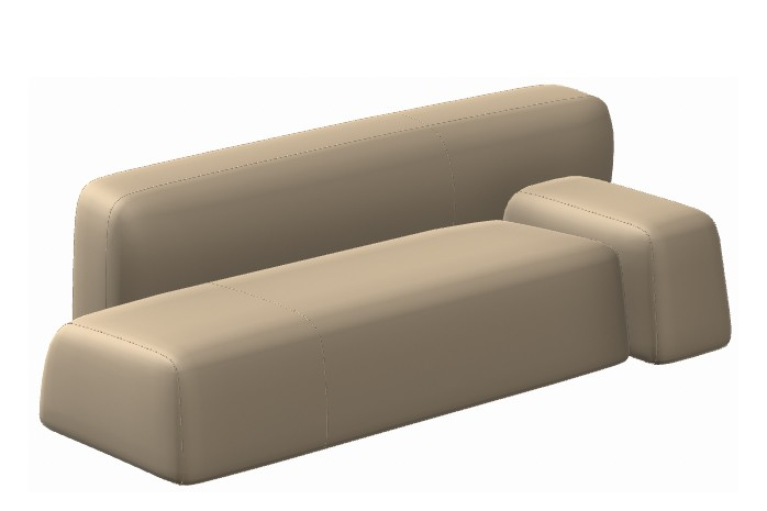 Suiseki Seating Composition SUI08SX/SUI08DX Right, La Cividina Extrema