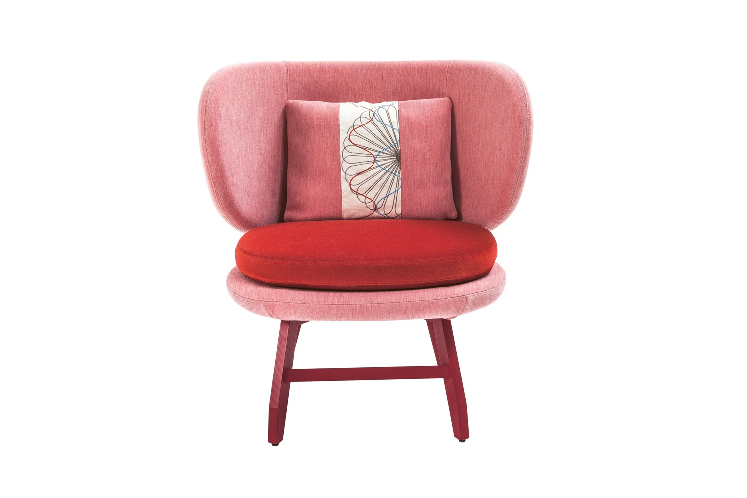 Ariel Small Armchair Sushi Edition Red