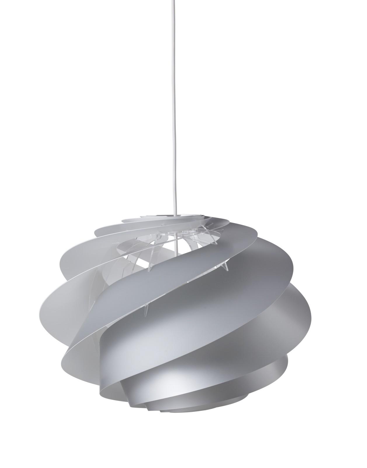 Swirl 1 Pendant Light Silver