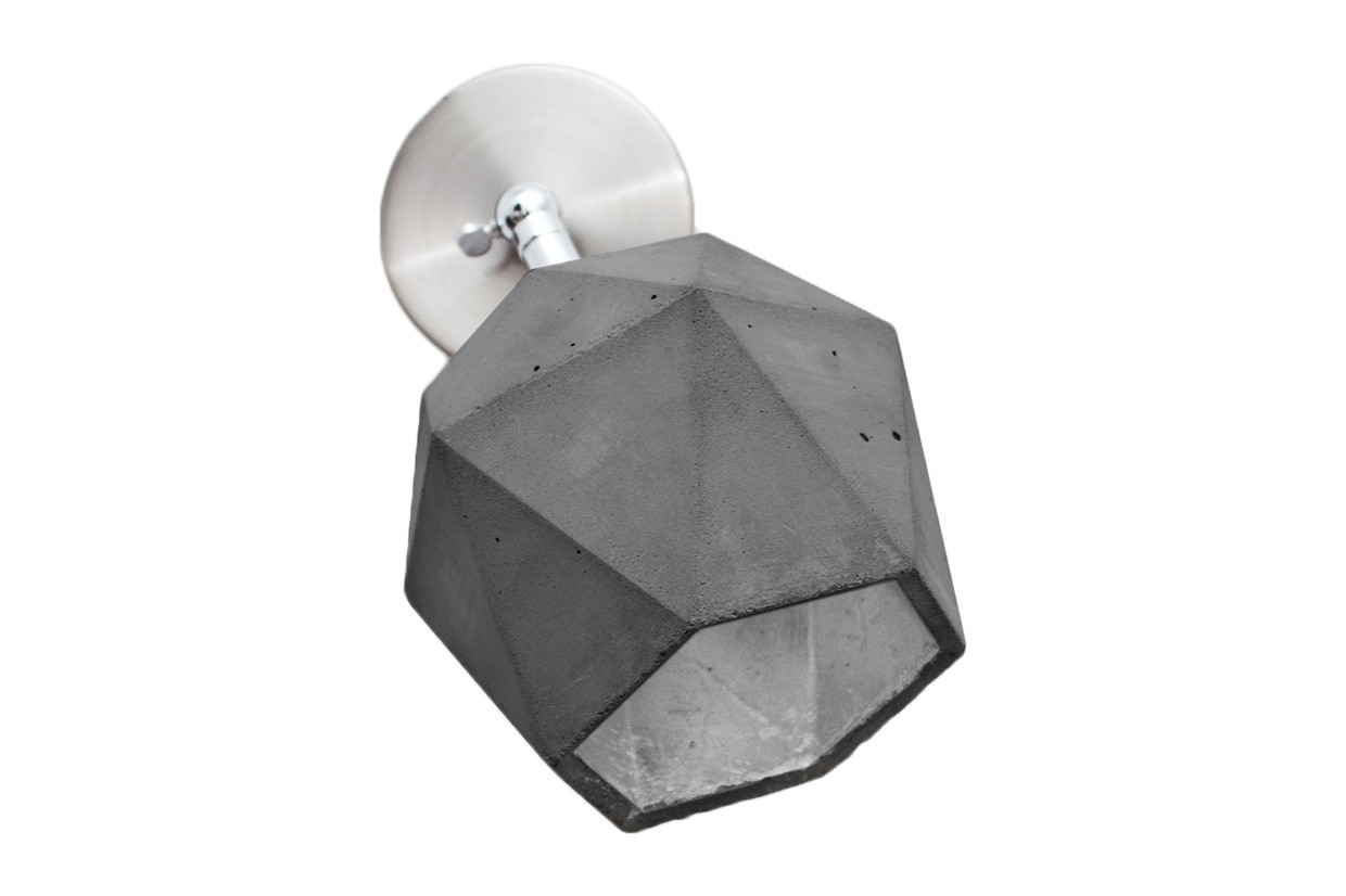 [T2] Wall Light Dark Grey/Silver