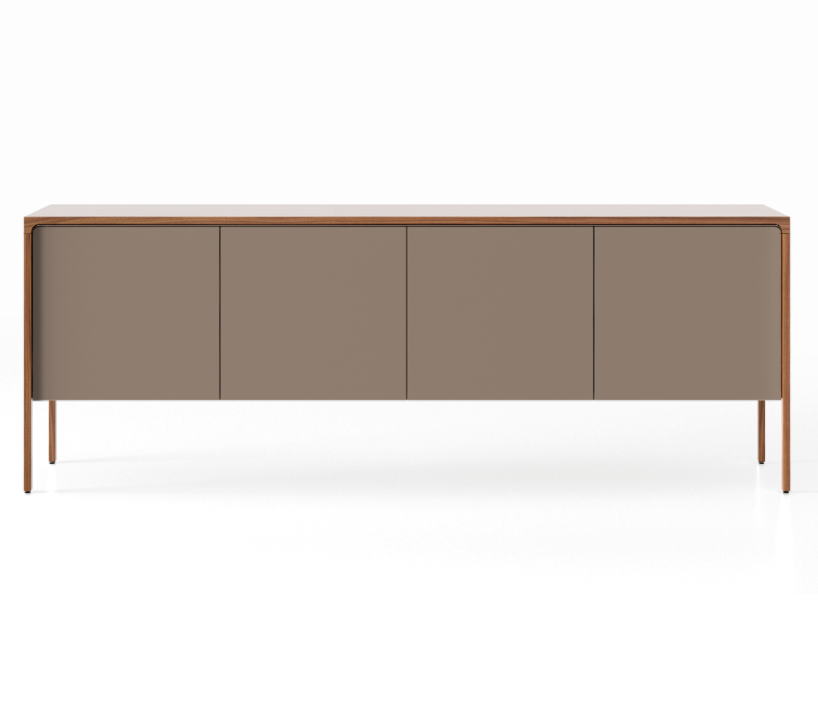 TAC215 Tactile Sideboard Super-Matt Walnut, Bronze Texturised Lacquered (cs6010-y10r)