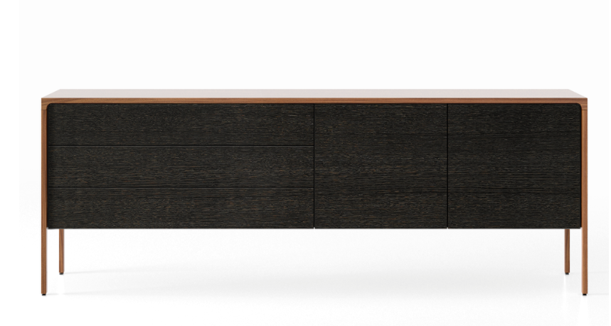 TAC216 Tactile Sideboard Super-Matt Walnut, Dark Grey Stained Oak
