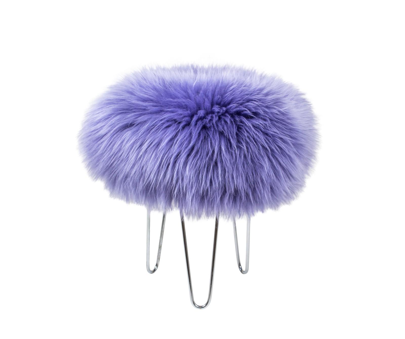 Talulah - Sheepskin Footstool Lilac