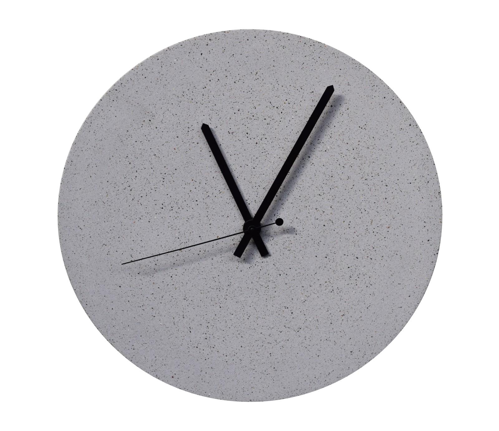 TEMPUS 32 concrete wall clock grey sand