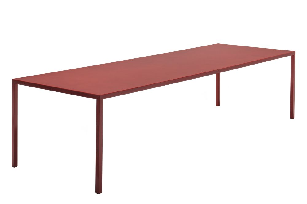 Tense Material H90 High Table Red Diamond, 120x120cm