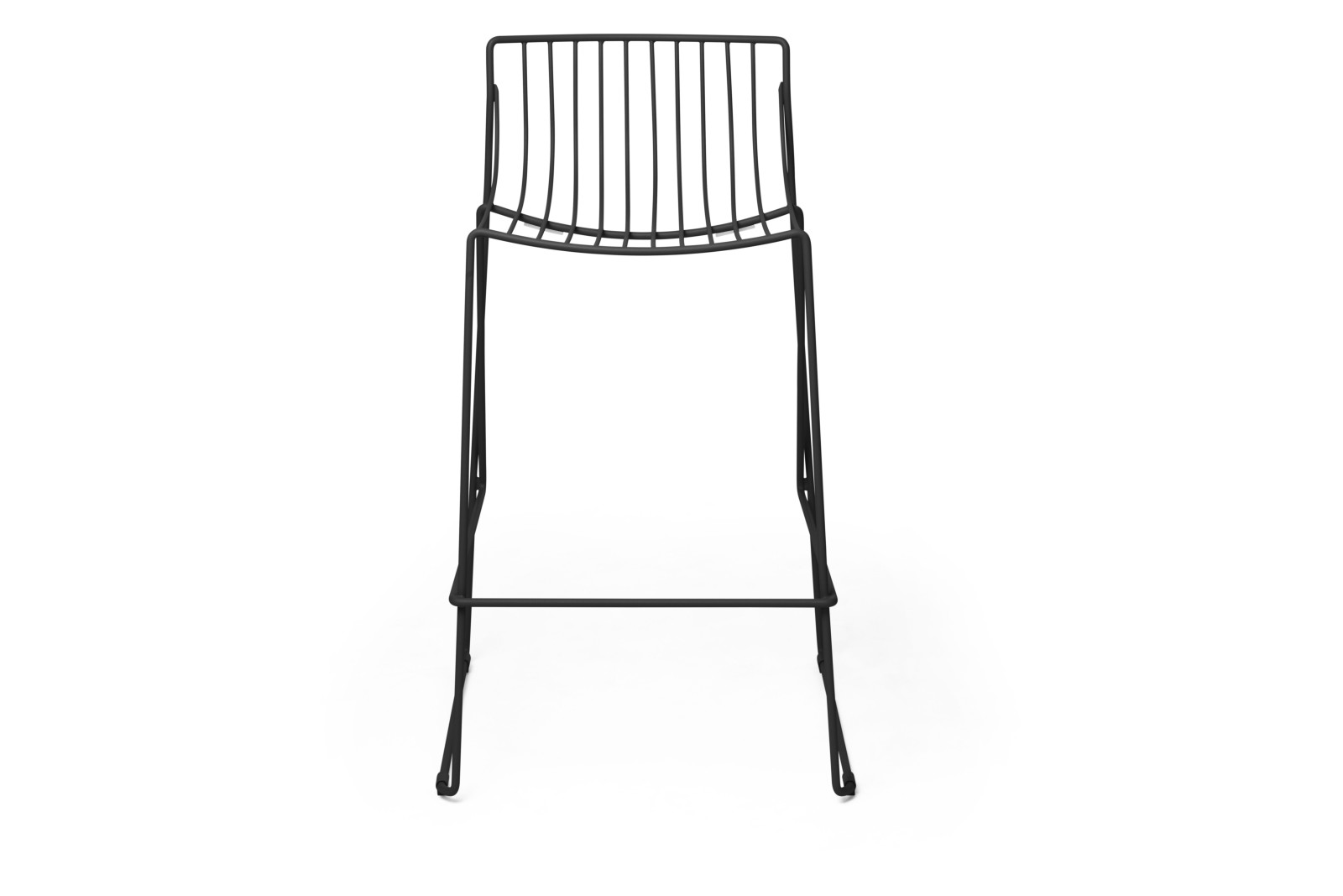 Tio Bar Stool Black - RAL 9005, 65cm