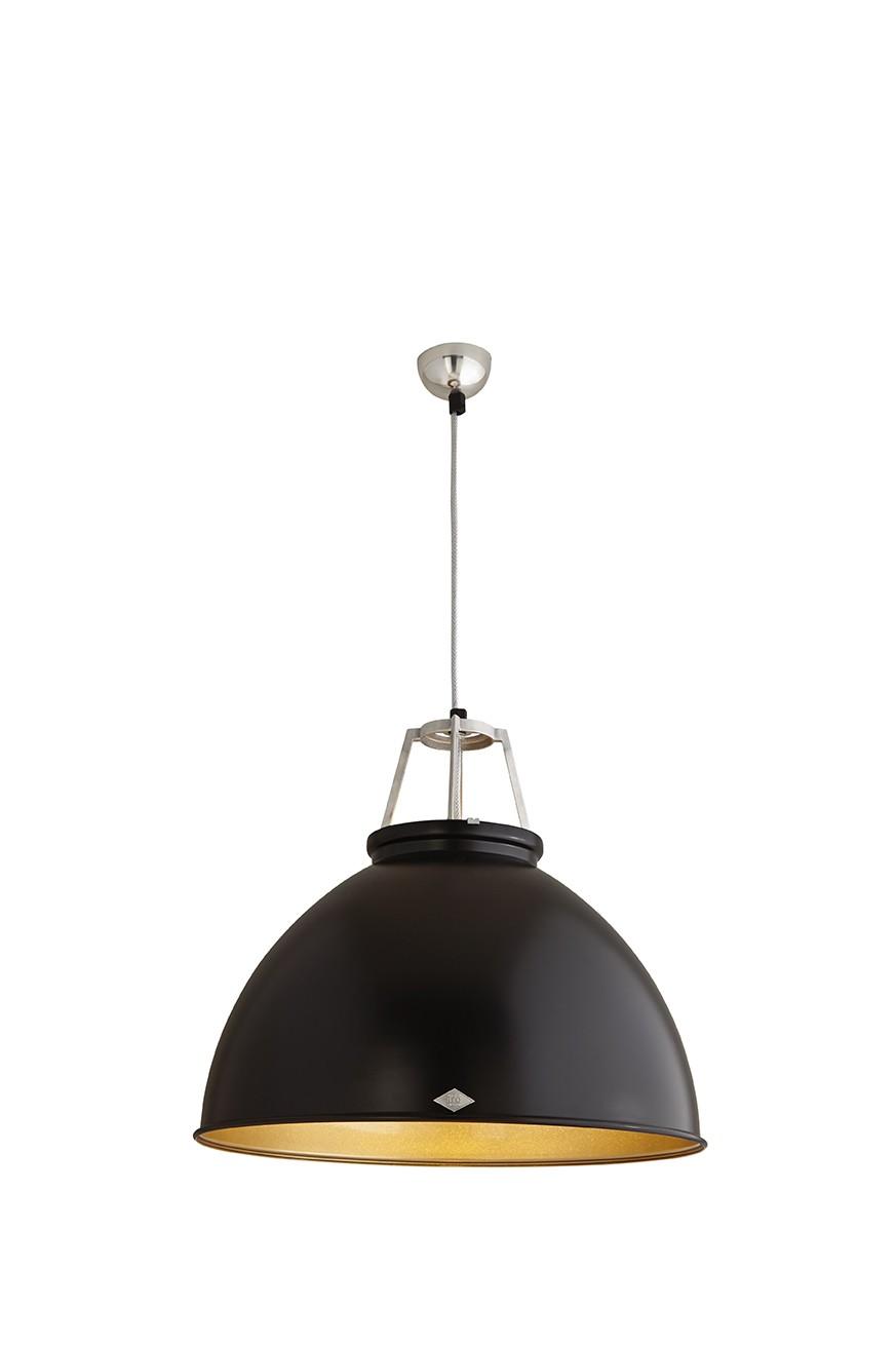 Titan Size 5 Pendant Light Black with Bronze Interior
