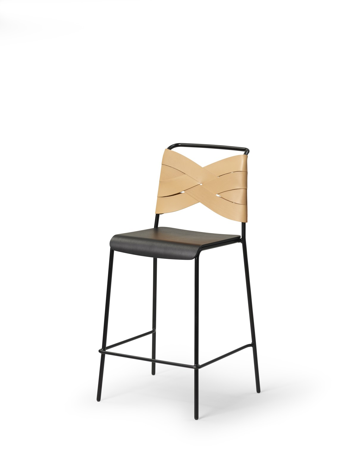 Torso Barstool Black/Natural
