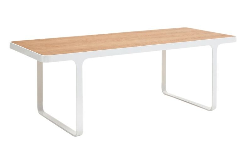 Trace Coffee Table American White Oak, White