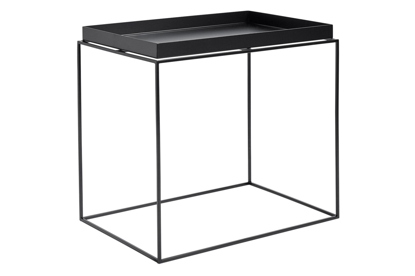 Tray Rectangular Side Table by HAY Black