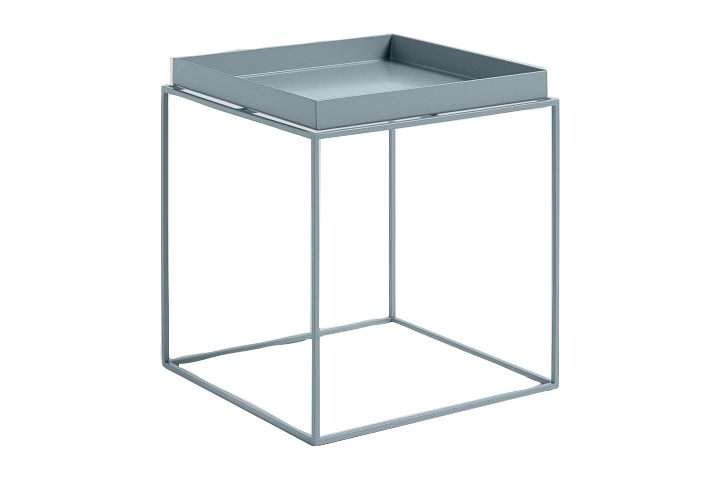 Tray Square Side Table Blue, Medium