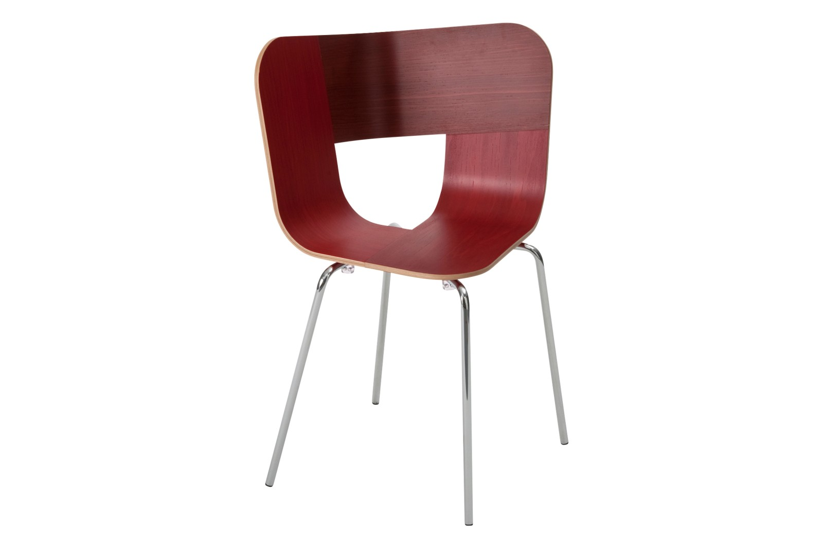 Tria Metal Legged Dining Chair Red