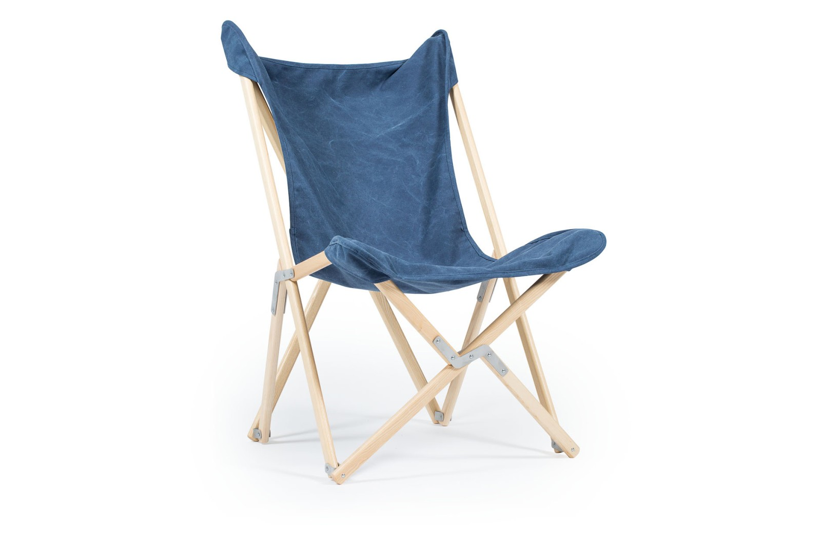 Tripolina Chair Blue Jeans, Natural Frame