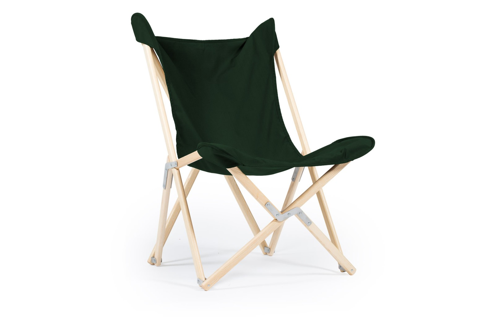 Tripolina Chair Forest Green, Natural Frame