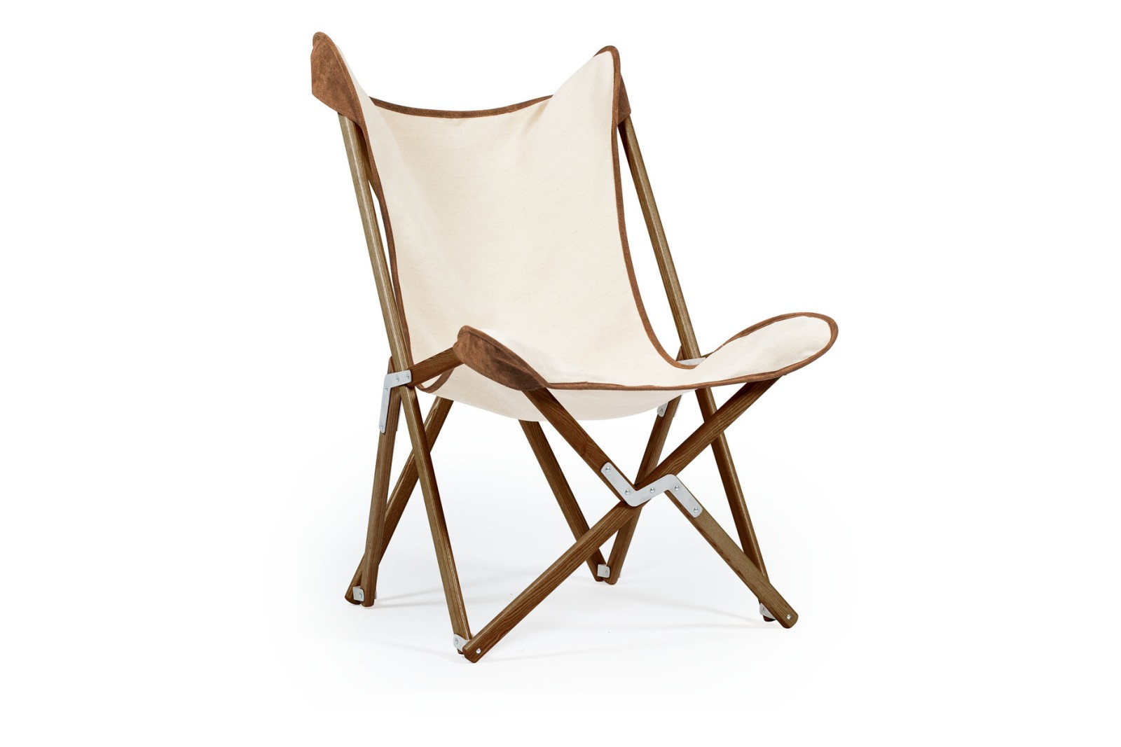 Tripolina Double Coloured Chair 1855 Suede, Dark Frame