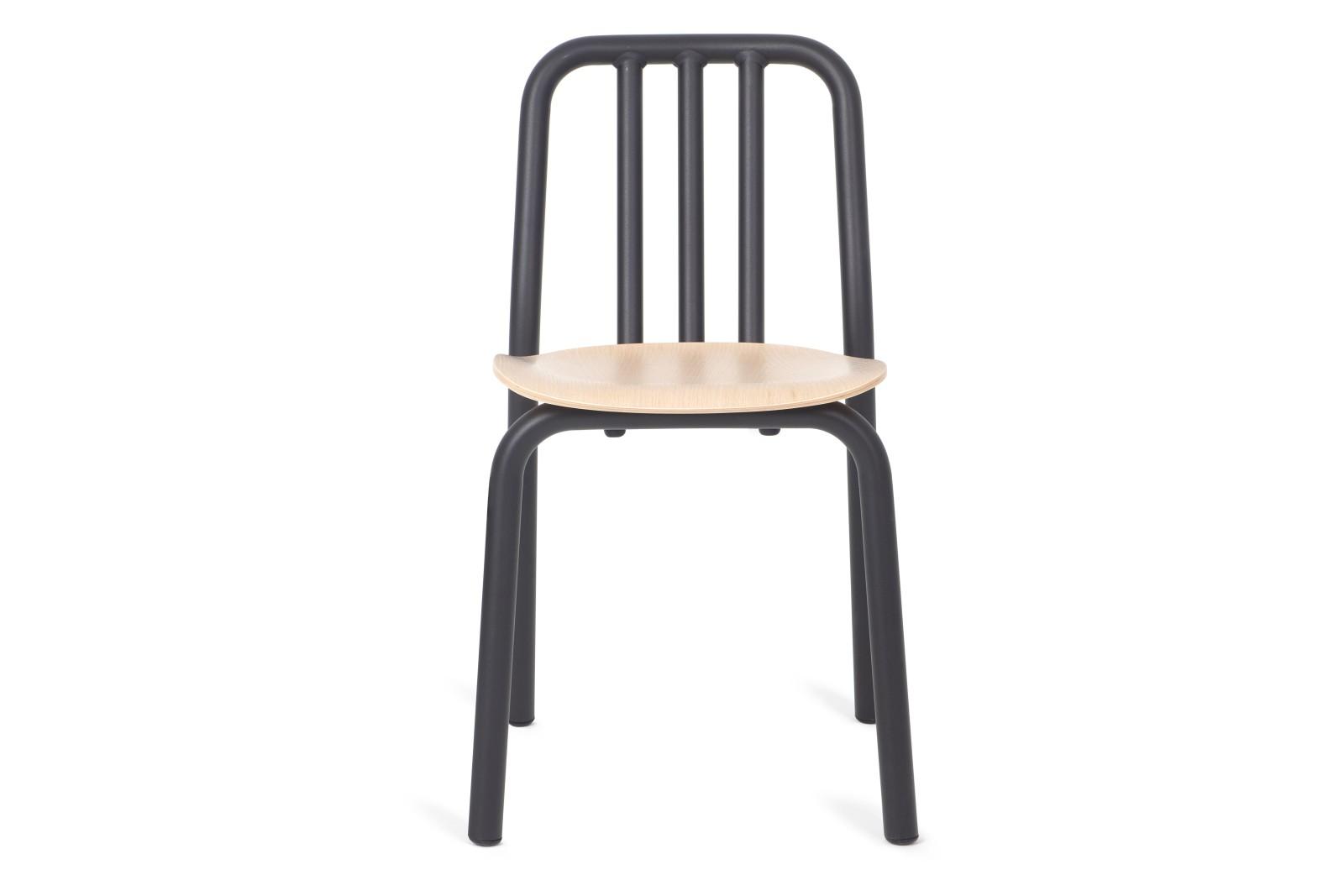 Tube Wooden Dining Chair Black, Oak