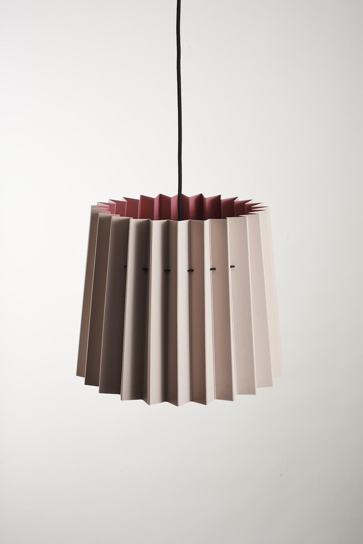 Twin Tone Lampshade Light Peachblossom & Carmine