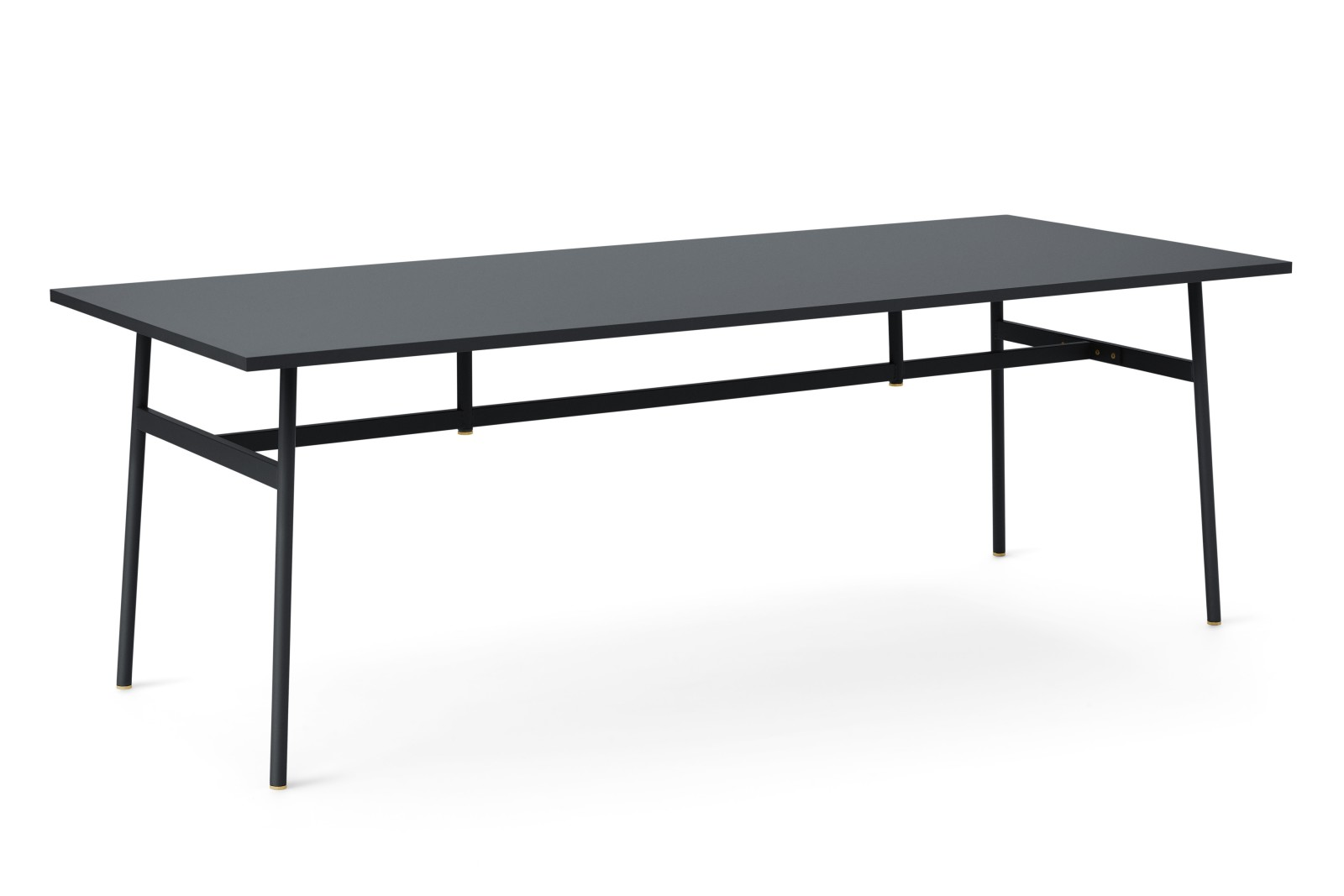 Union Rectangular Dining Table Black, 220