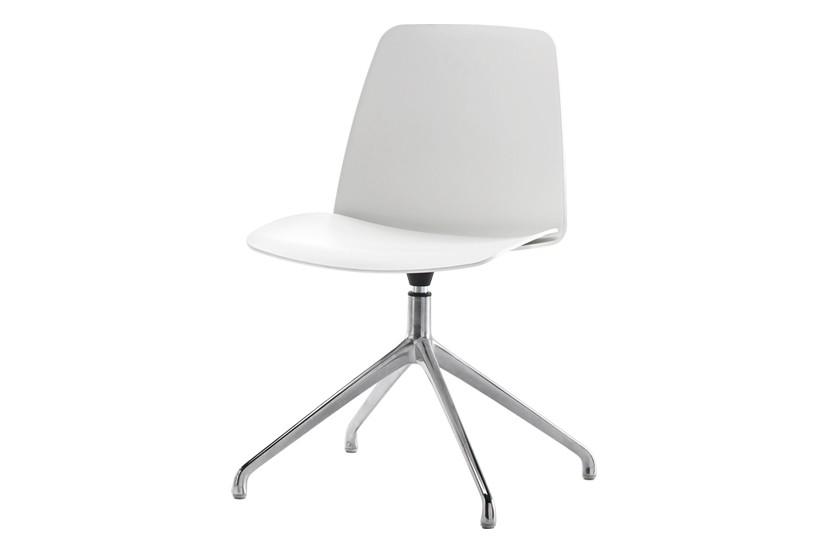 Unnia Dining Chair 4 Aluminum Spoke Swivel Base - Set of 2 Unnia W01, Polished