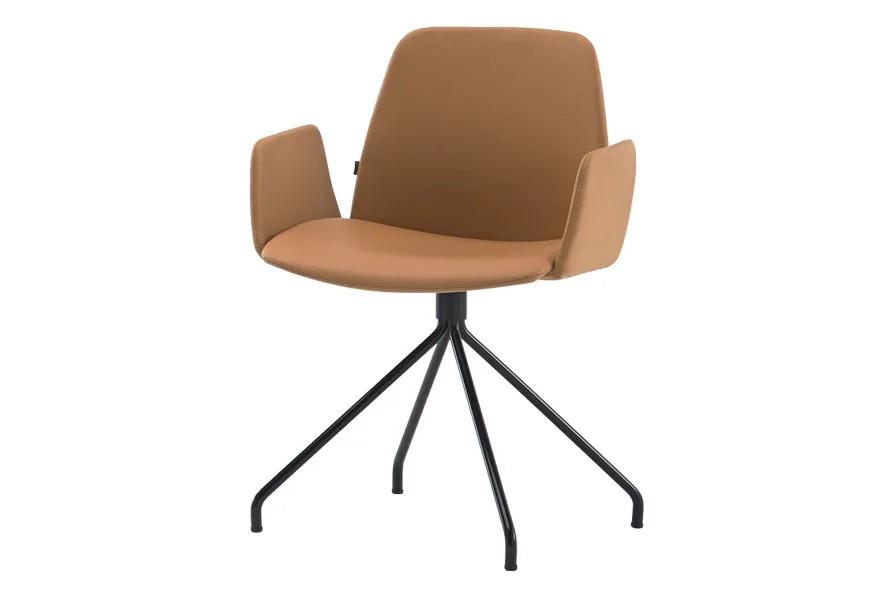 Unnia Tapiz Armchair Upholstered Armrest 4 Spoke Swivel Base Pricegrp. c1, Colour B00-Black