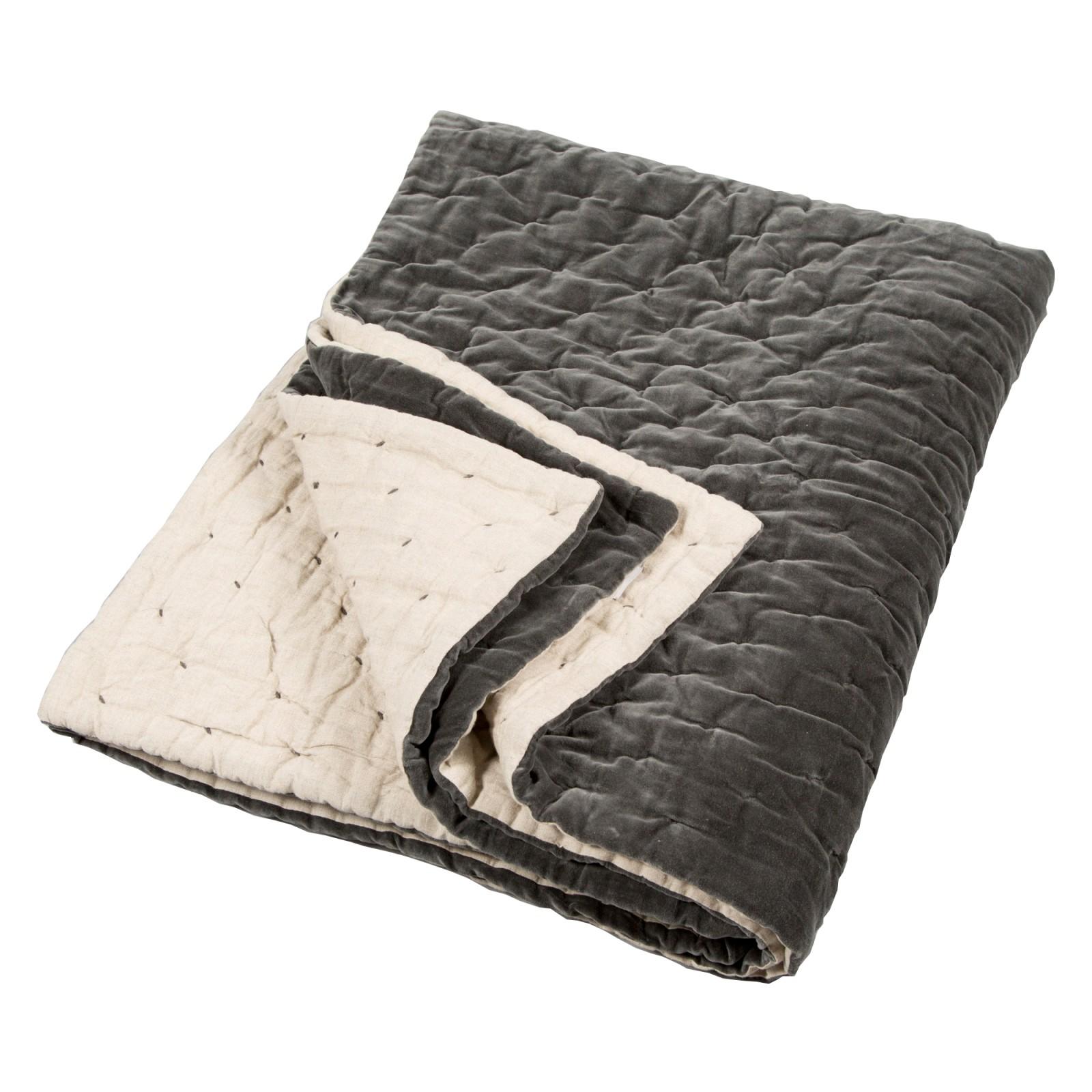 Velvet Linen Bedspread Velvet Linen Bedspread Slate