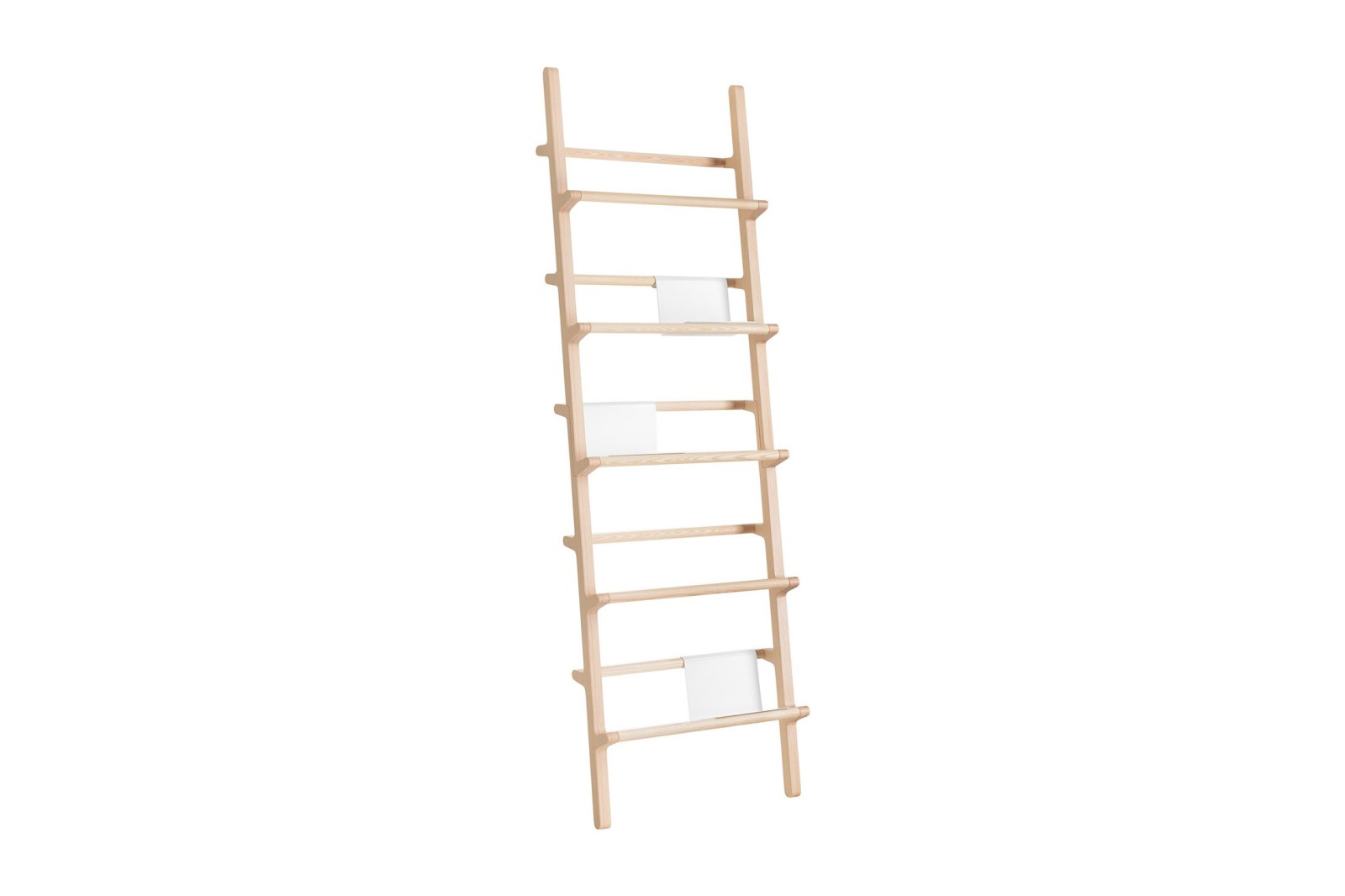 Verso Shelf Wide Natural Lacquered Ash