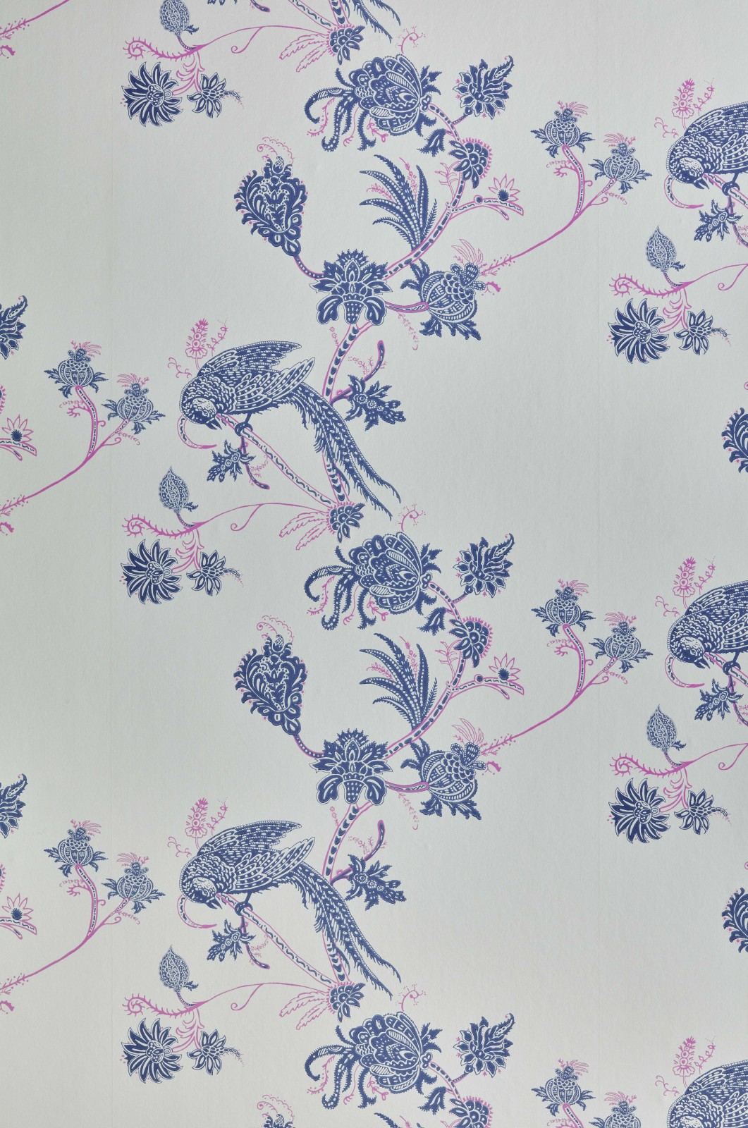 Vintage Bird Trail Blue Pink