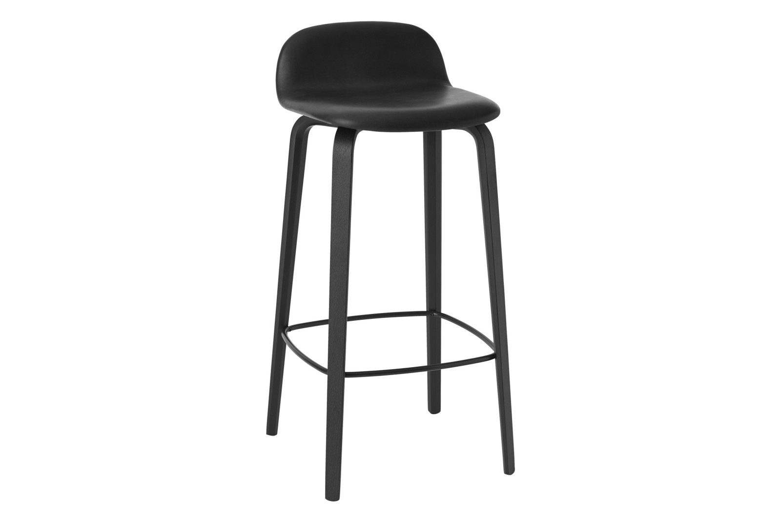 Visu Bar Stool - Upholstered Refine Black High