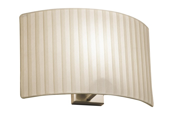 Wall Street Wall Light Pleated Shade, 24cm