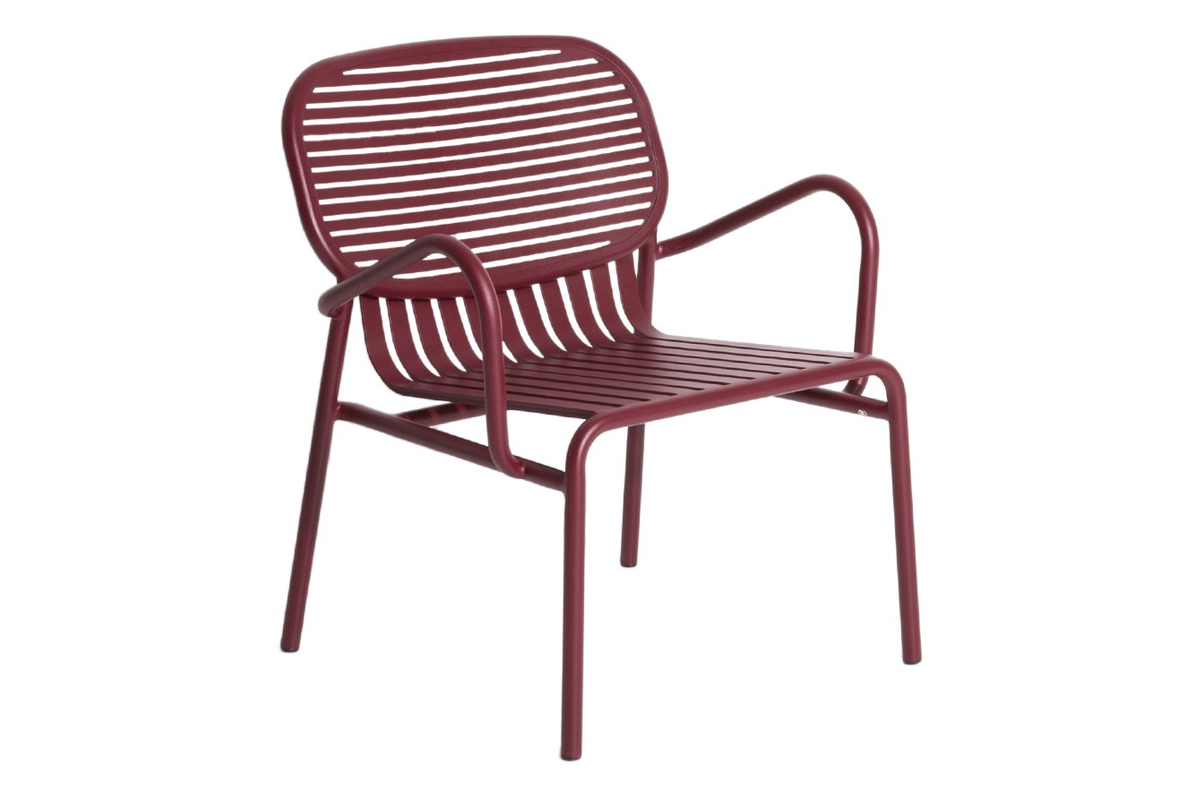 Week-End Armchair - Set of 2 Burgundy, RAL 3005