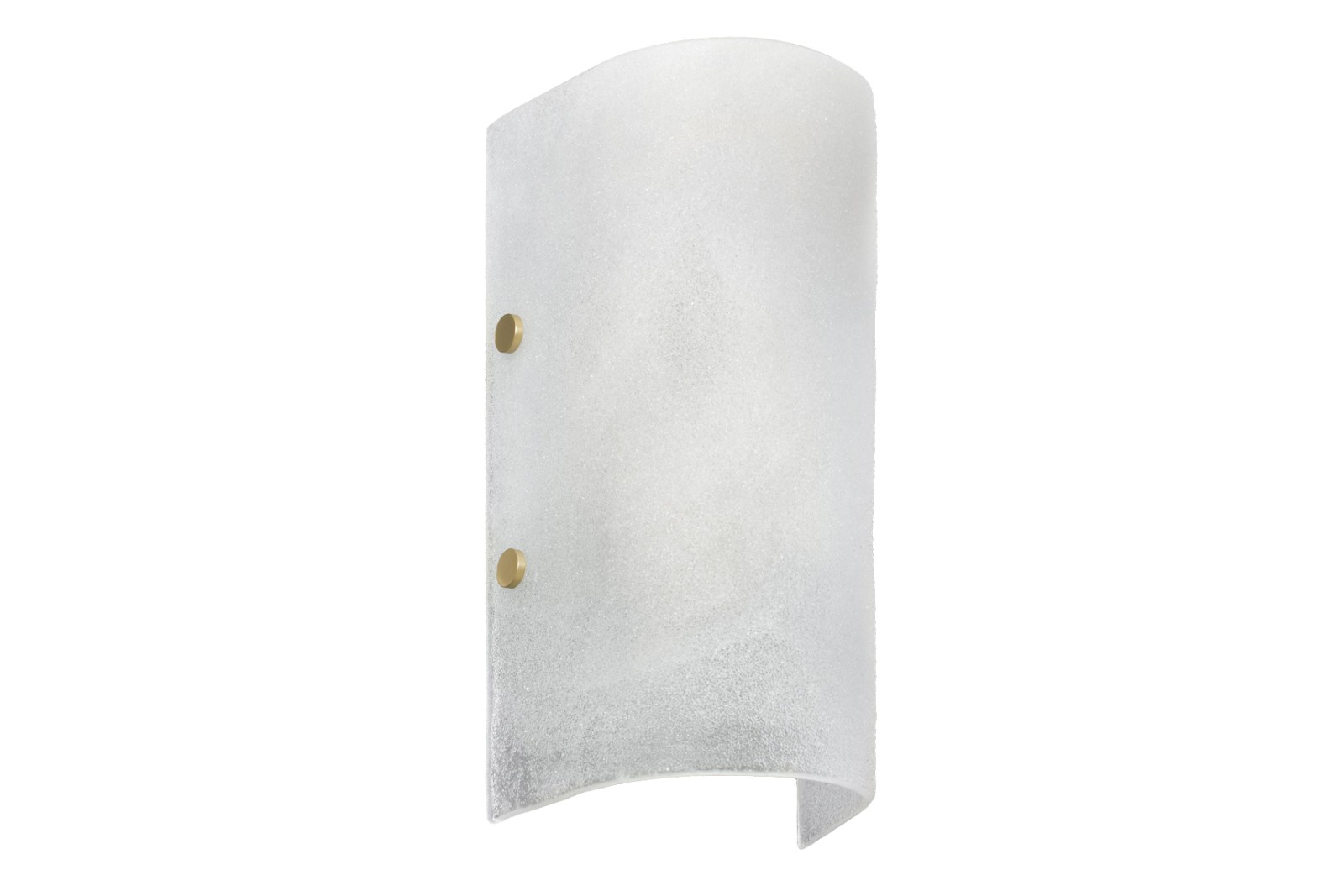 Whistler Wall Light Fritted glass with satin brass details
