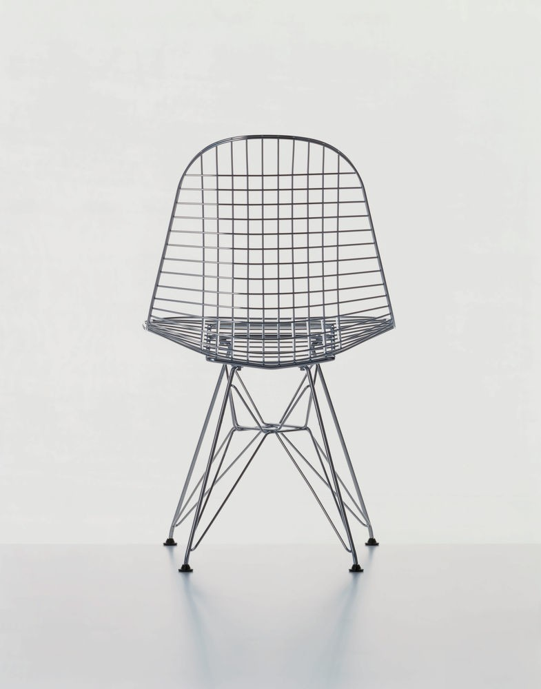 Wire Chair DKR 01 chrome, 04 basic dark for carpet