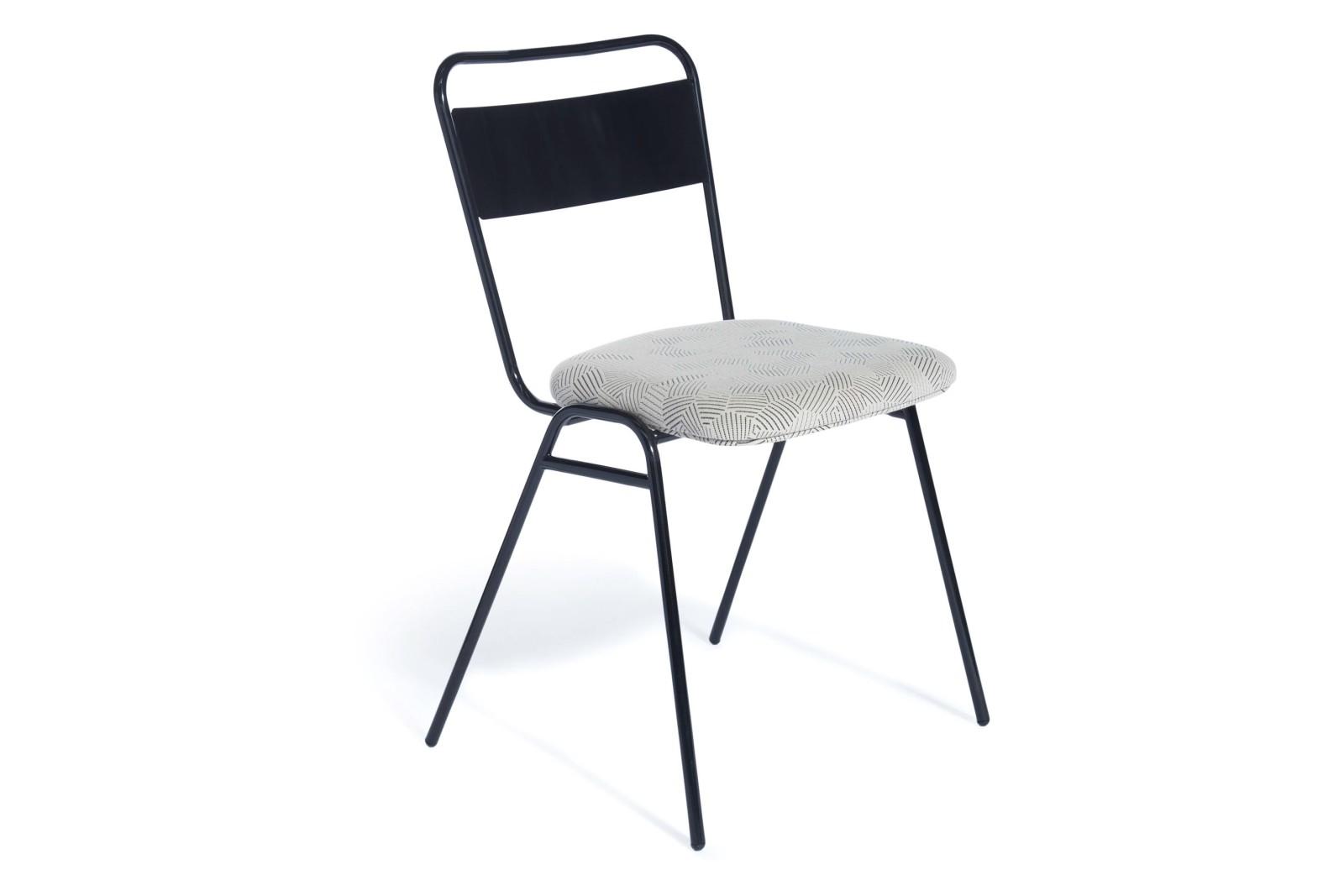 Working Girl Soft Dining Chair Rivet Tensile EGL20, Jet Black - RAL 9005