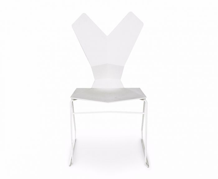 Y Chair Sled Base White Shell, White Base