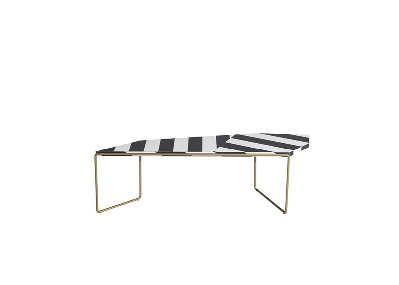 Zagazig Coffee Table White and black striped pattern, 119