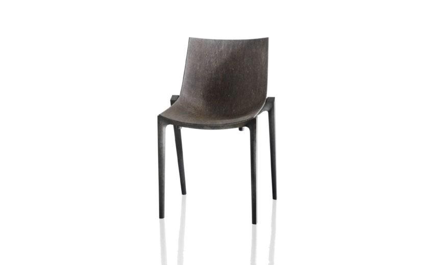 Zartan Chair - Set of 2 Eco, Brown Frame, Seat Beige