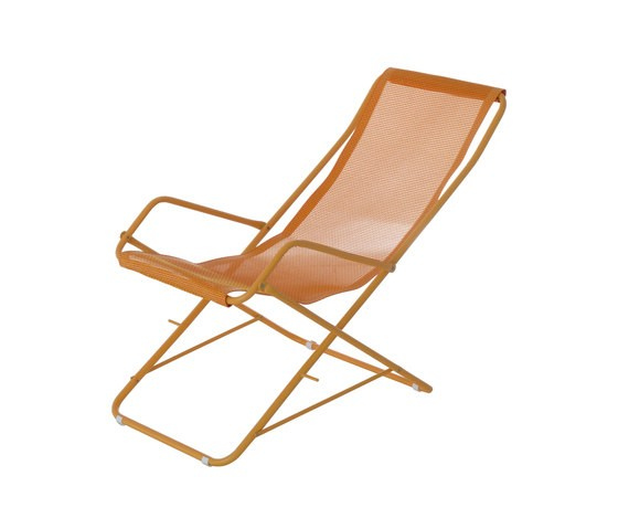 Bahama Deck Chair - Set of 4 Orange/Peach