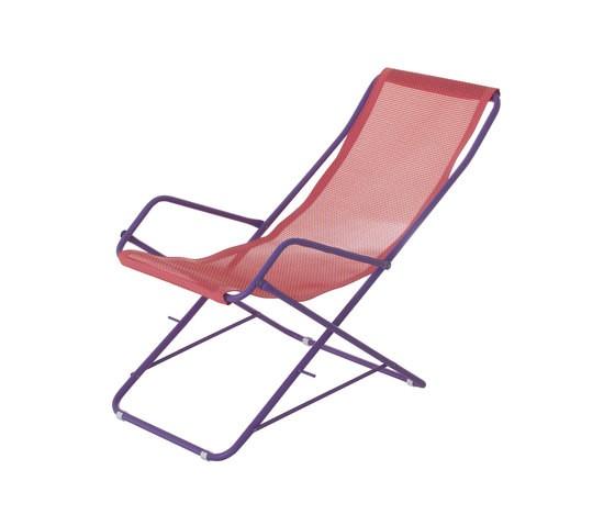 Bahama Deck Chair - Set of 4 Lilac/Raspberry