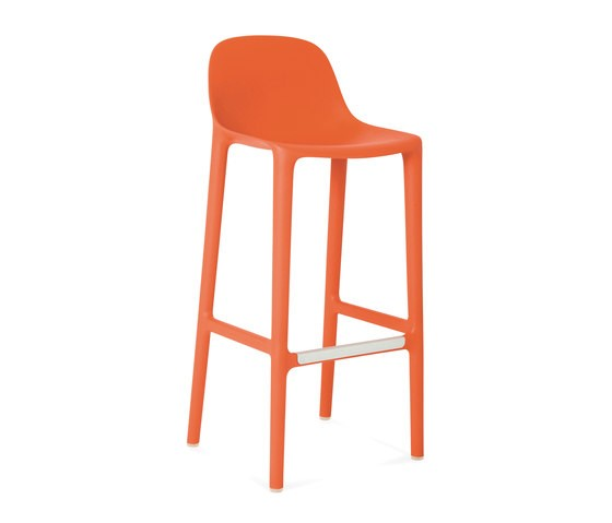Broom Barstool Orange