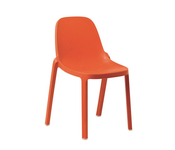 Broom Stacking Chair - Set of 2 Orange