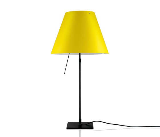 Costanza radieuse table, Black Base, Smart Yellow Shade, Diffuser