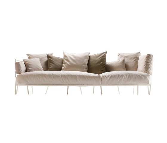 dehors outdoor 3-seater sofa 372 textured white, jumper 3 002
