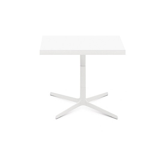Fred H 50 by Arper White powdercoated base, MDF MD cm 60x60 Top