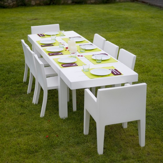 Jut Dining Table - 280 x 90 x 75 cm White