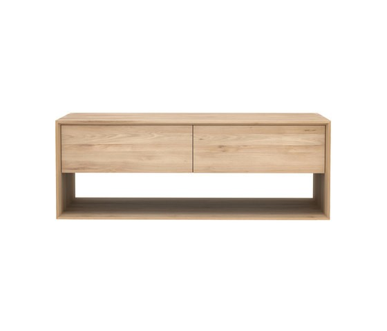Oak Nordic TV cupboard 120 x 46 x 45 cm