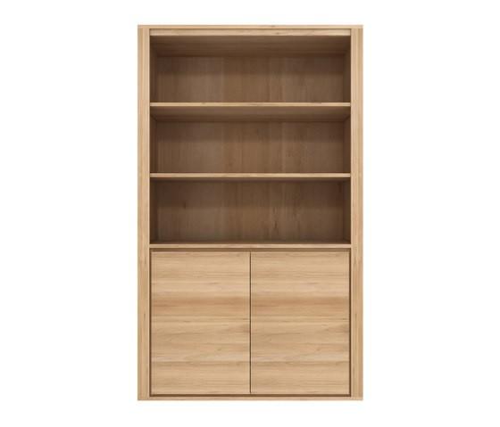 Oak Shadow bookcase 124 x 46 x 210 cm